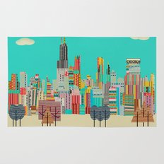 Chicago city (summer days) Rug