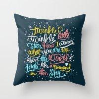 twinkle twinkle twinkle twinkle Throw Pillow