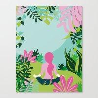 Yoga Garden Canvas Print