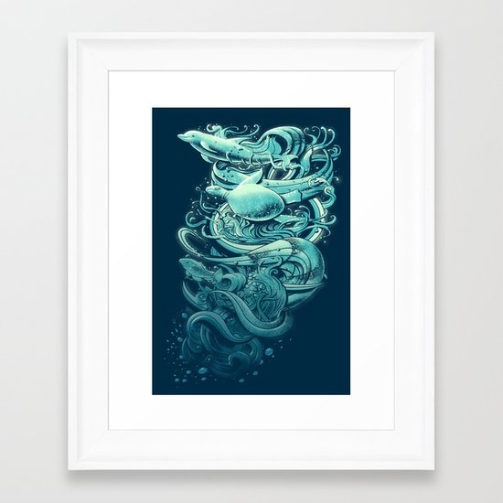 Wave Riders Framed Art Print