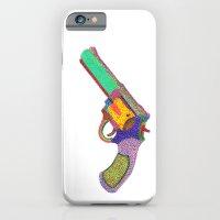 gun shoots color iPhone 6 Slim Case