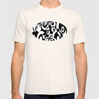 Black And White Mens Fitted Tee Natural SMALL