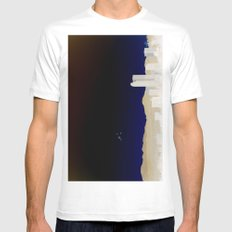 Denver Flyby Mens Fitted Tee White SMALL