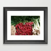 Market Framed Art Print