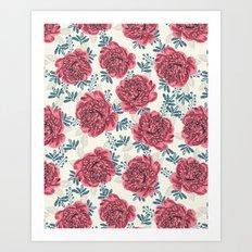 Peony Garden Flower Bloo… Art Print