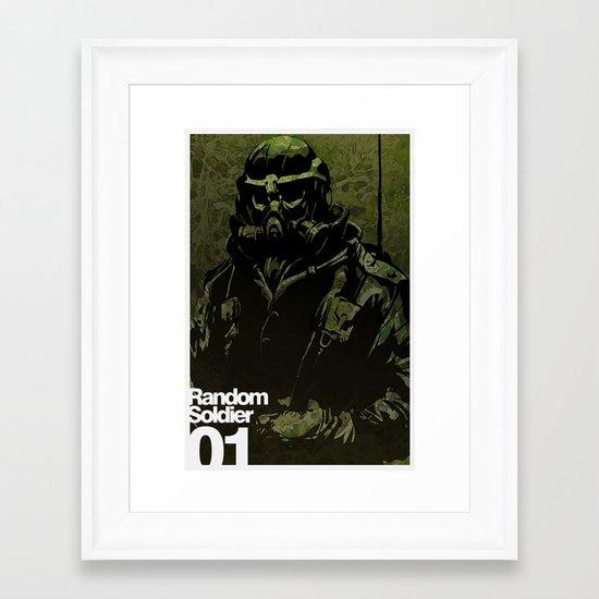 Random Solider 01 Framed Art Print