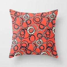 Honolulu hoopla orange Throw Pillow