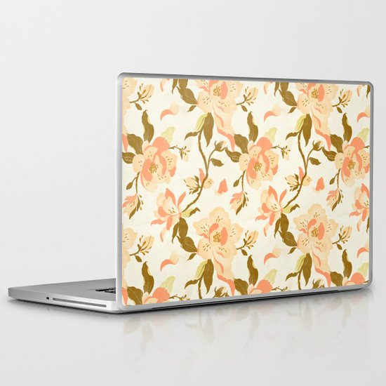 Magnolia Pattern Laptop & iPad Skin