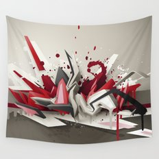 Red Metal Wall Tapestry