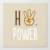 HiiiPower (w/text) : Pale Canvas Print