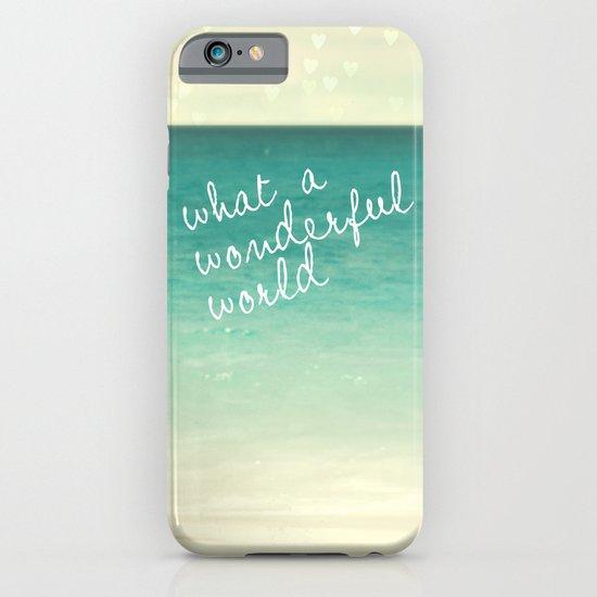 wonderful world iPhone & iPod Case