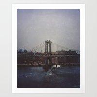 Manhattan Bridge Of Whal… Art Print
