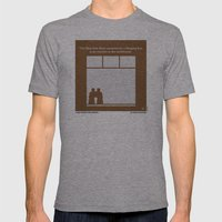 No238 My Rear window minimal movie poster Mens Fitted Tee Athletic Grey SMALL