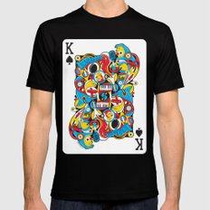 King Of Spades SMALL Black Mens Fitted Tee