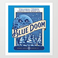 Blue Doom Art Print