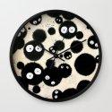 Cute Susuwatari Infestation Wall Clock