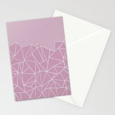 Ab Lines 45 Pink Stationery Cards