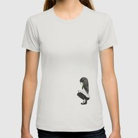 Feather Girl Womens Fitted Tee Silver SMALL