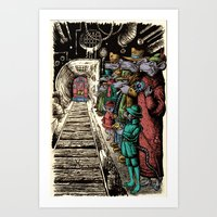 Subway Rats Art Print