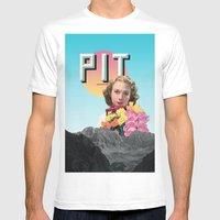 PIT Mens Fitted Tee White SMALL