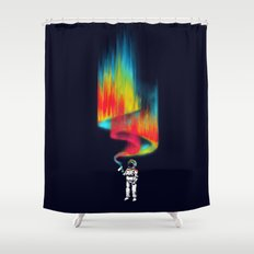 Space vandal Shower Curtain