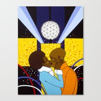 New York Kiss Canvas Print