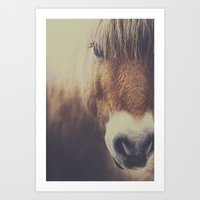 Art Prints featuring The curious girl by HappyMelvin