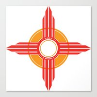 New Mexico Zia - Red Canvas Print