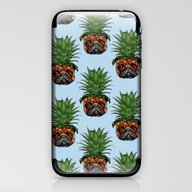 iPhone & iPod Skin featuring Pineapple Pug  by Huebucket