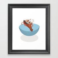 Colossal Squid! Framed Art Print