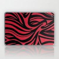 Red & Black Waves Laptop & iPad Skin