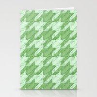 Frog Houndstooth Stationery Cards