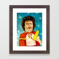 Get That Corn Out Of My … Framed Art Print