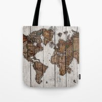 Wood Map 2 Tote Bag