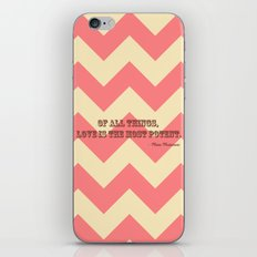 Chevron Love iPhone & iPod Skin