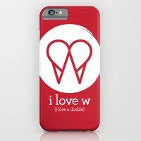 I Love W iPhone 6 Slim Case