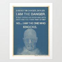 Walter White - Breaking … Art Print