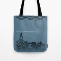 Une Nuit à Paris (blue … Tote Bag