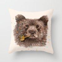 Sailor Bear II Throw Pillow