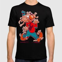 THE FLYING SPAGHOOFY MON… Mens Fitted Tee Black SMALL