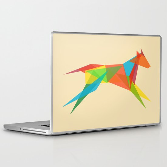 Fractal Geometric Dog Laptop & iPad Skin