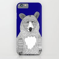 iPhone & iPod Case featuring Blue Bear by lush tart