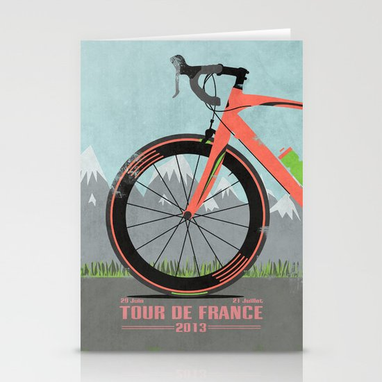 Tour De France Bike Stationery Card
