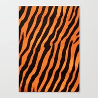 Tiger Pattern Canvas Print