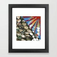 Contrast Jelly Fish Framed Art Print