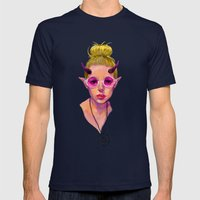 Monster Girl #3 Mens Fitted Tee Navy SMALL