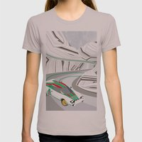Stratos (Without Text) Womens Fitted Tee Cinder SMALL