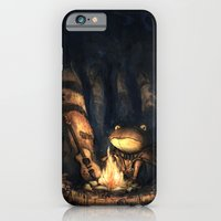 iPhone & iPod Case featuring Campfire Frog by Tim Probert