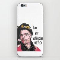 iPhone & iPod Skin featuring Working class HERO by AstridJN