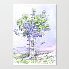 La Citta' albero... Canvas Print